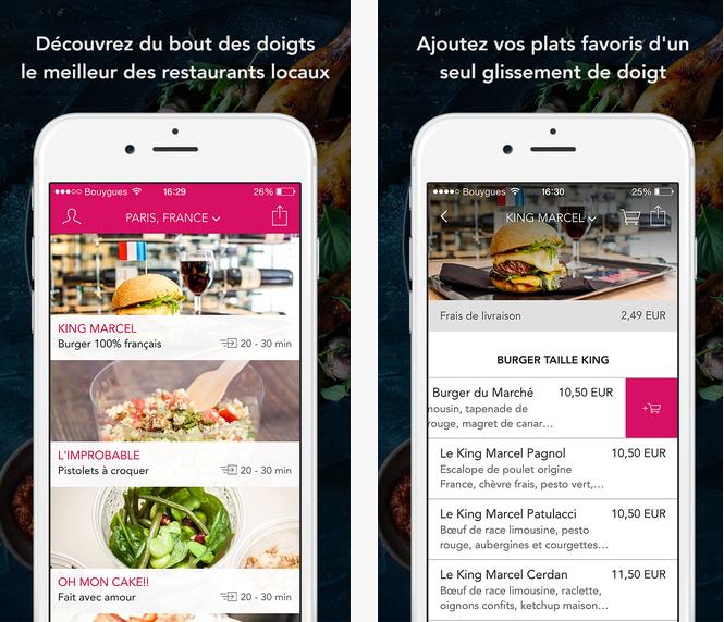 Capture d'écran Foodora iOS