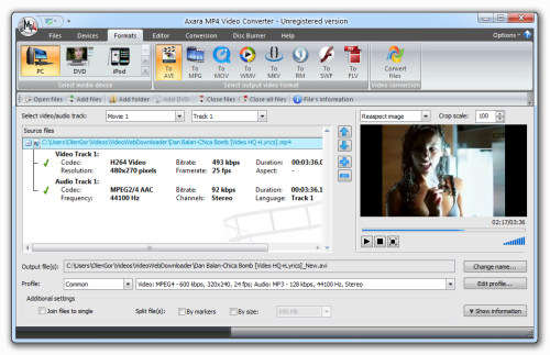 Capture d'écran Mp4 Video Converter