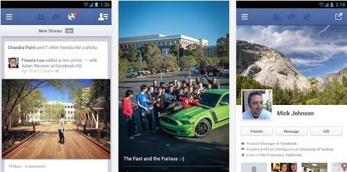 Capture d'écran Facebook pour mobile