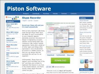 Capture d'écran Pistonsoft Skype Recorder