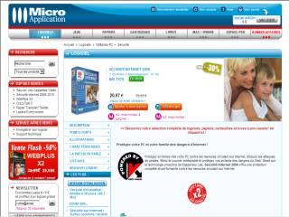 Capture d'écran Sécurité Internet 2009