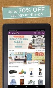 Capture d'écran Wayfair – Furniture