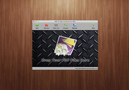 Capture d'écran PDF To JPG Converter For Mac