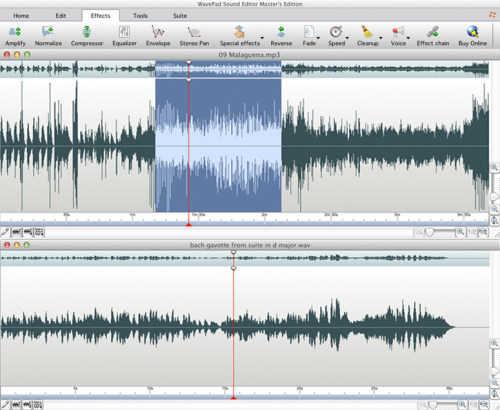 Capture d'écran WavePad – Éditeur audio pour Mac
