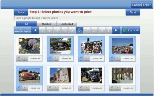 Capture d'écran Aurigma Photo Kiosk