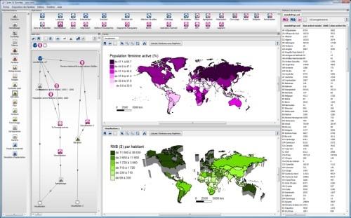 Capture d'écran Cartes & données Perso