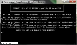 Capture d'écran CacaoRemover