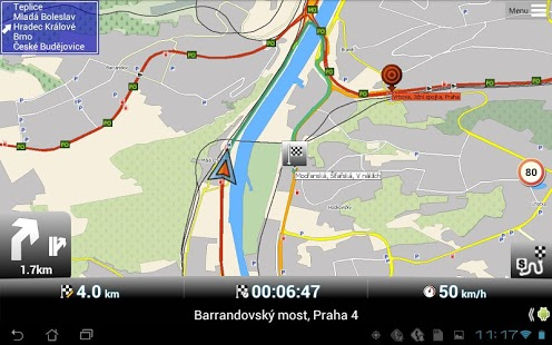 Capture d'écran MapFactor: GPS Navigation