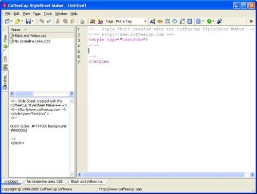 Capture d'écran CoffeeCup StyleSheet Maker