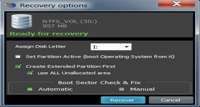 Capture d'écran Active@ Partition Recovery 17.0.1