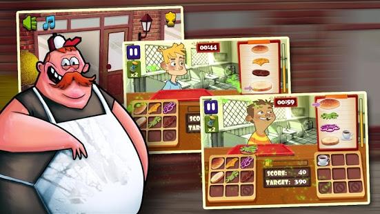 Capture d'écran Papa's Burger Shop
