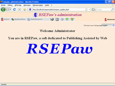 Capture d'écran RSEPaw