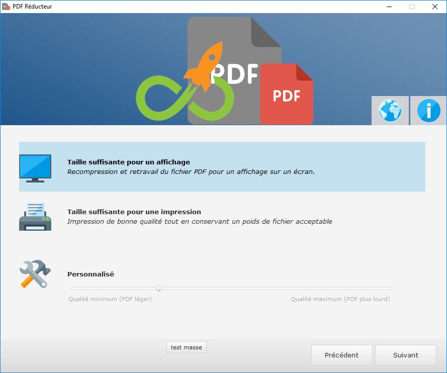 Capture d'écran PDF Réducteur