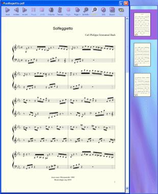 Capture d'écran PDFtoMusic