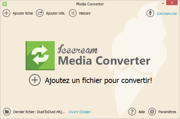Capture d'écran Icecream Media Converter 1.56