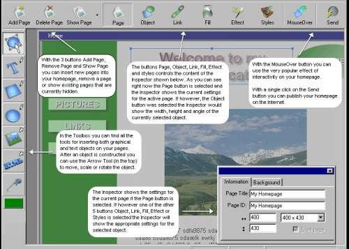Capture d'écran CoffeeCup VisualSite Designer
