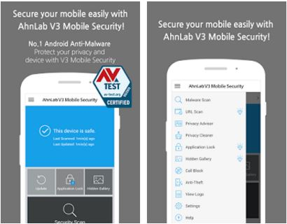 Capture d'écran AhnLab V3 Mobile Security Android