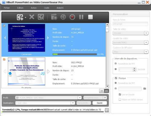Capture d'écran Xilisoft PowerPoint en Vidéo Convertisseur Business