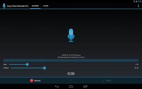 Capture d'écran Enregistreur de Voix Facile Pr