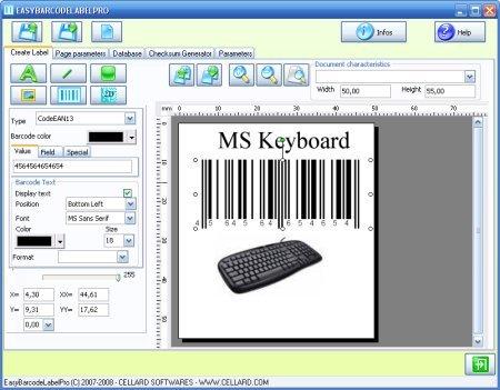 Capture d'écran Easybarcodelabelpro