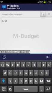 Capture d'écran WebSMS: M-Budget de connecteur