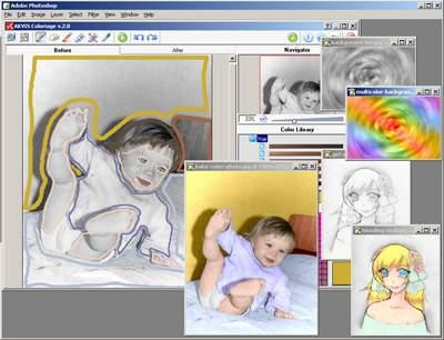 Capture d'écran AKVIS Coloriage Mac