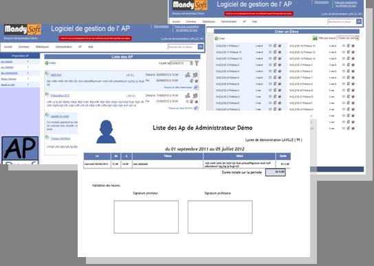 Capture d'écran AP-PROF
