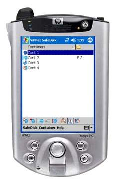 Capture d'écran ViPNet Safe Disk for Pocket PC