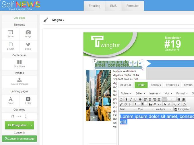 Capture d'écran Self-news