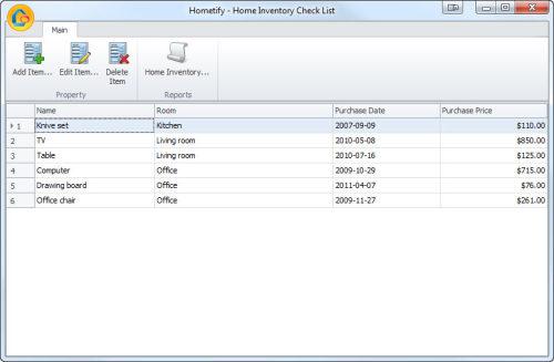 Capture d'écran Home Inventory Checklist