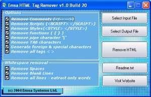 Capture d'écran Emsa HTML Tag Remover
