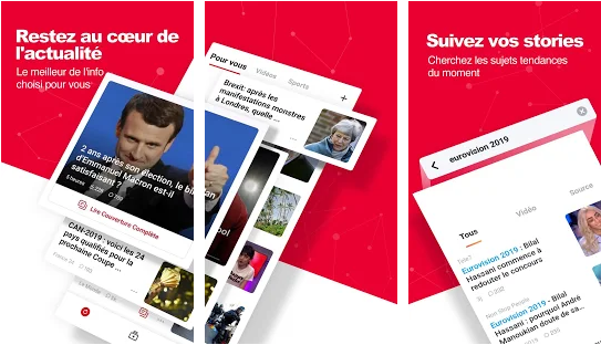 Capture d'écran News Republic Android