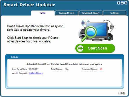 Capture d'écran Smart Driver Updater