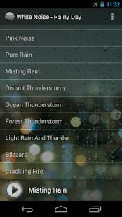 Capture d'écran White Noise – Rainy Day