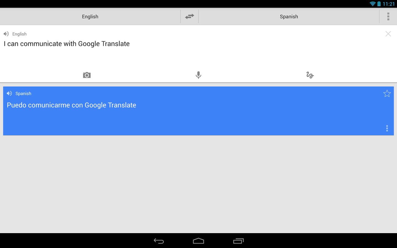 Capture d'écran Google Traduction Android