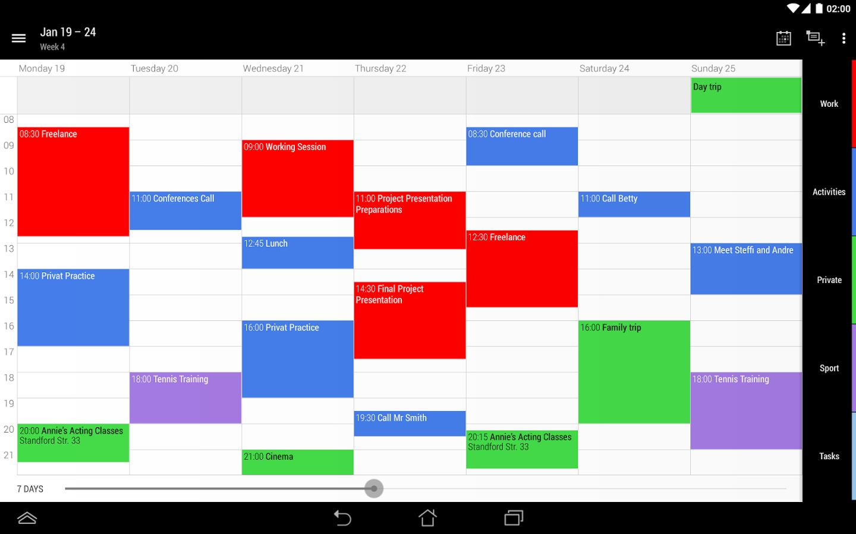 Capture d'écran Business Calendar 2 Android