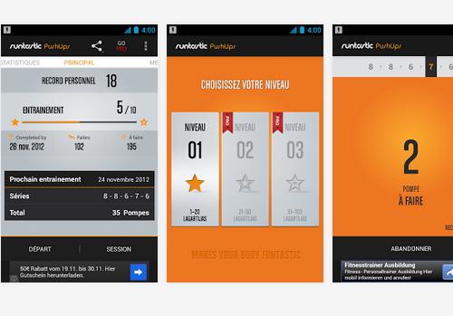 Capture d'écran Runtastic Push-Ups Android