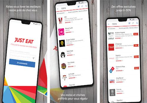 Capture d'écran Just Eat Android