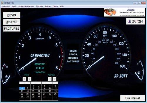 Capture d'écran CARFACTOU v7 2013