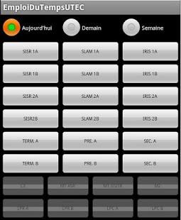 Capture d'écran Emplois du temps UTEC