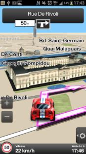 Capture d'écran Orange Maps