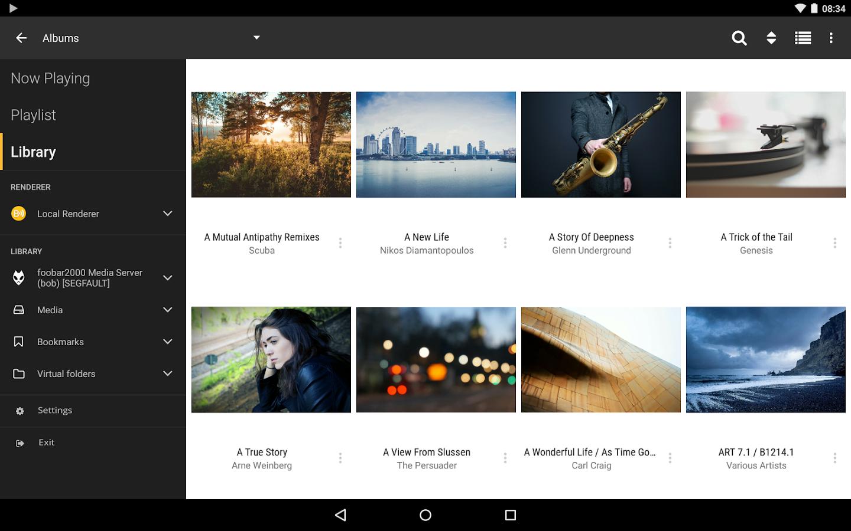 Capture d'écran BubbleUPnP UPnP/DLNA Android