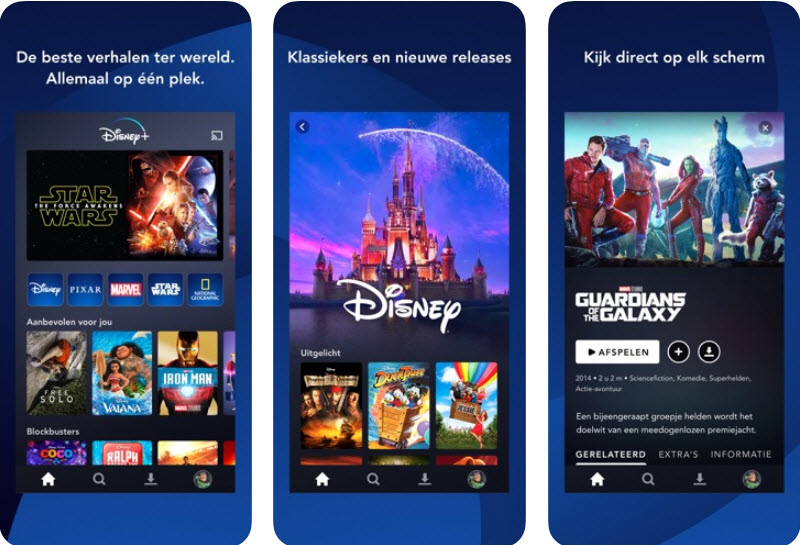Capture d'écran Disney Plus iOS