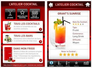 Capture d'écran Atelier Cocktail iOS