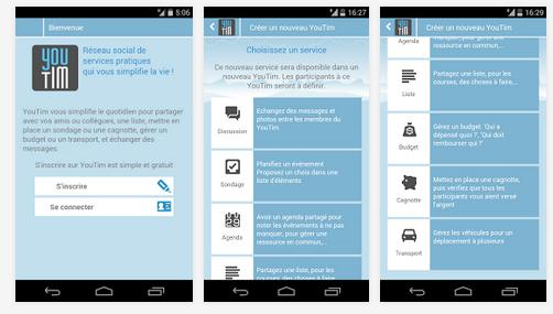 Capture d'écran YouTim Android