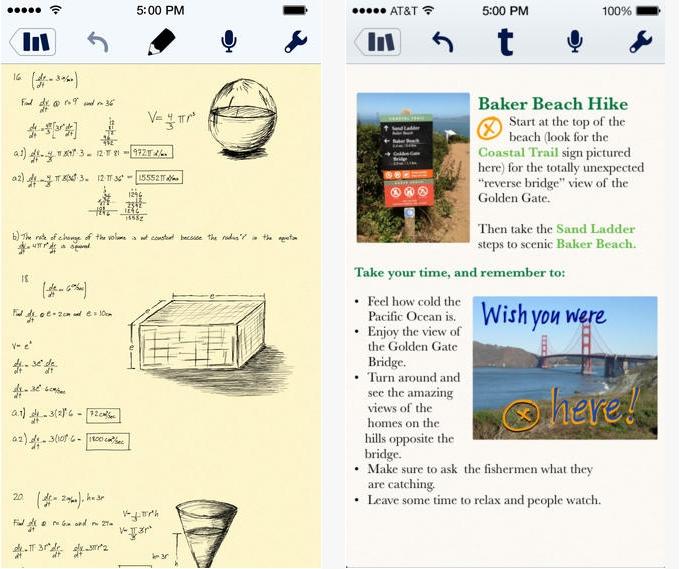Capture d'écran Notability iOS