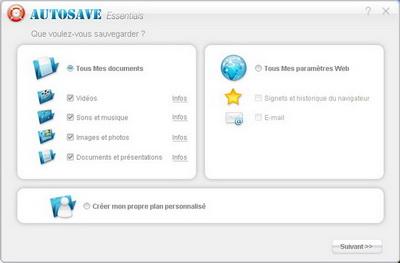 Capture d'écran AutoSave Essentials