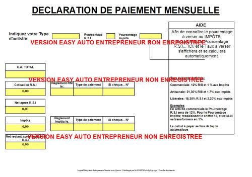 Capture d'écran Easy Auto Entrepreneur