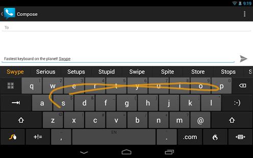 Capture d'écran Swype Keyboard