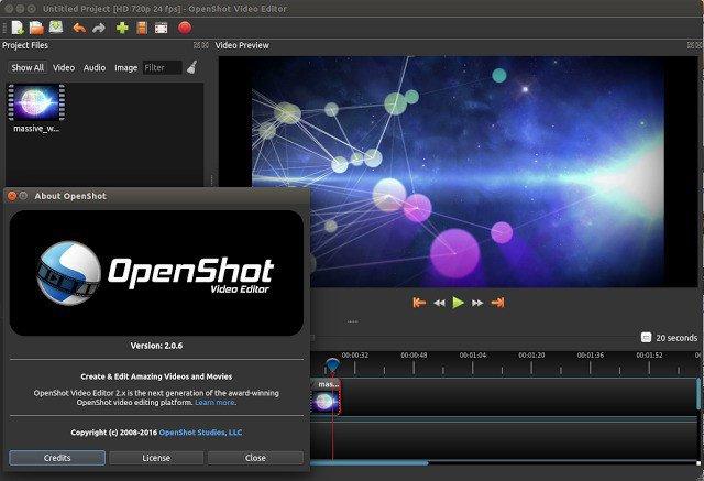 Capture d'écran OpenShot Video Editor Mac